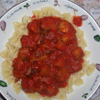Pasta Eggplant Bacon & Tomato