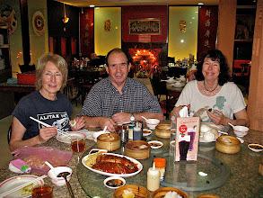 Photo: Barbara, Lloyd and Deborah having a dim sum breakfast, Chinatown