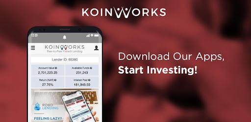 KoinWorks - Online P2P Lending Investment - Aplikasi di