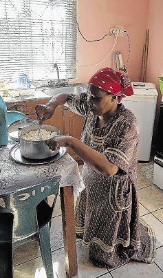 Double amputee Joyce Mkhosana at the family home in NU10, Mdanstane