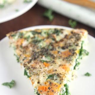 Skinny Kale & Butternut Squash Quiche