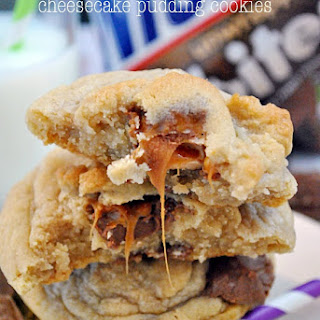 Snickers Cheesecake Pudding Cookies.