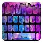 最新版、クールな Liquid Galaxy Droplets のテーマキーボード icon