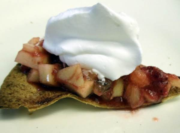 Cinnamon Tortilla Chips W/strawberry Salsa