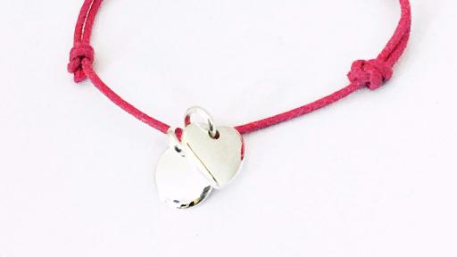 bracelet petite medaille coeur fermeture anneau
