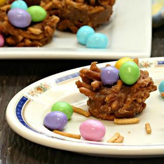 Bird's Nest Cookies - No Bake Easter.