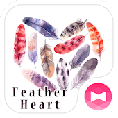 Stylish Wallpaper Feather Heart Theme