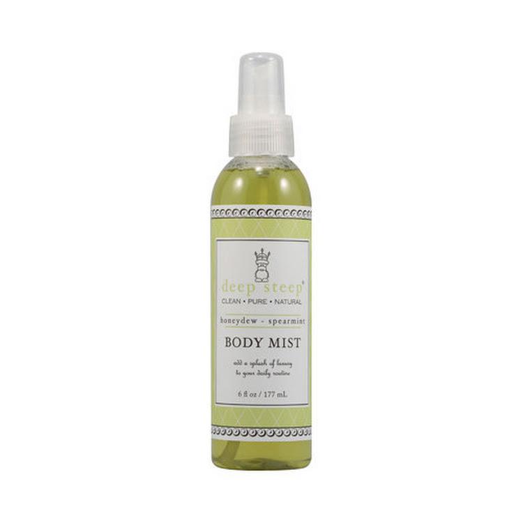 Deep Steep, ORGANIC Body Mist, Honeydew - Spearmint, 6 fl oz (177 ml) 100% alcohol free by Supermodels Secrets
