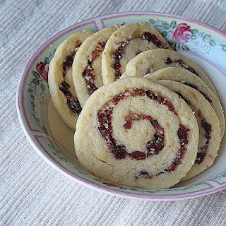 Cranberry Orange Spiral Cookies
