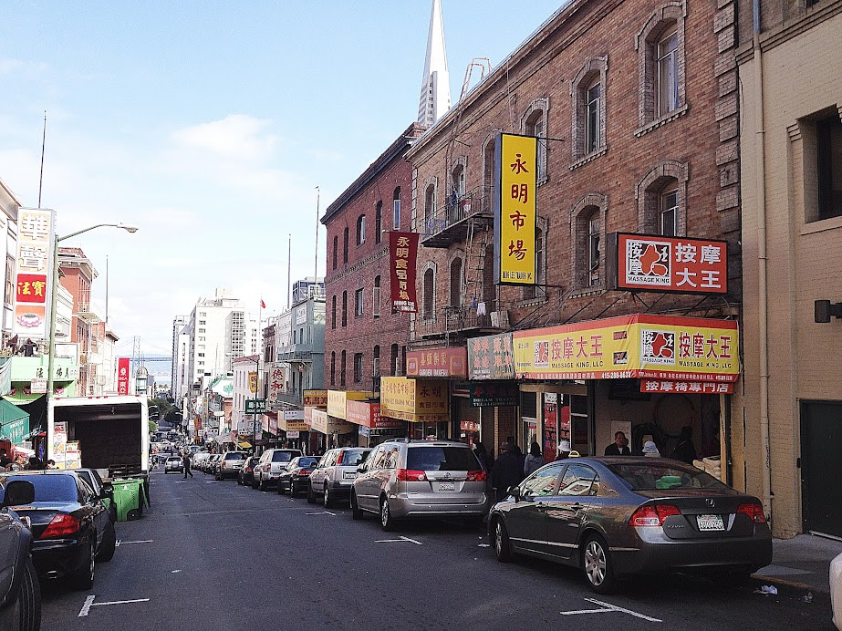 A street in Chinatown