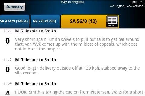 Yahoo Cricket screenshot 7