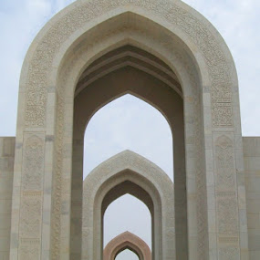The gate of Grand Masjid Sultan Qaboos - Muscat by Irma Andriani - Buildings & Architecture Places of Worship