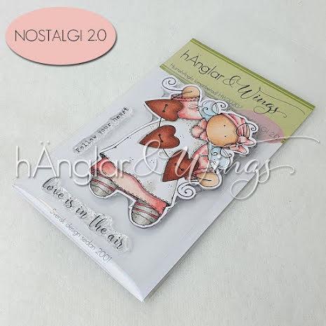 hÄnglar & Wings Clear Stamps - HjärtehÄngla A7