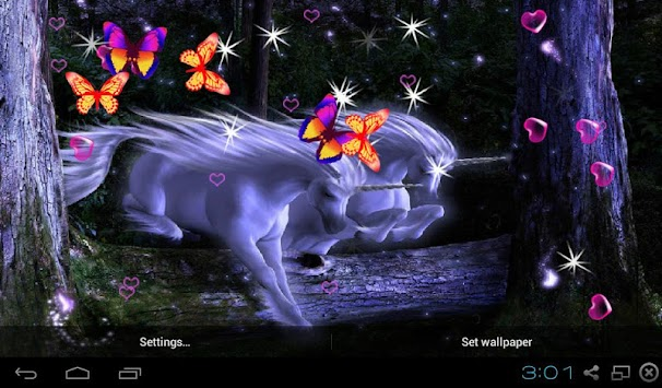 3D Unicorn Live Wallpapers Poster