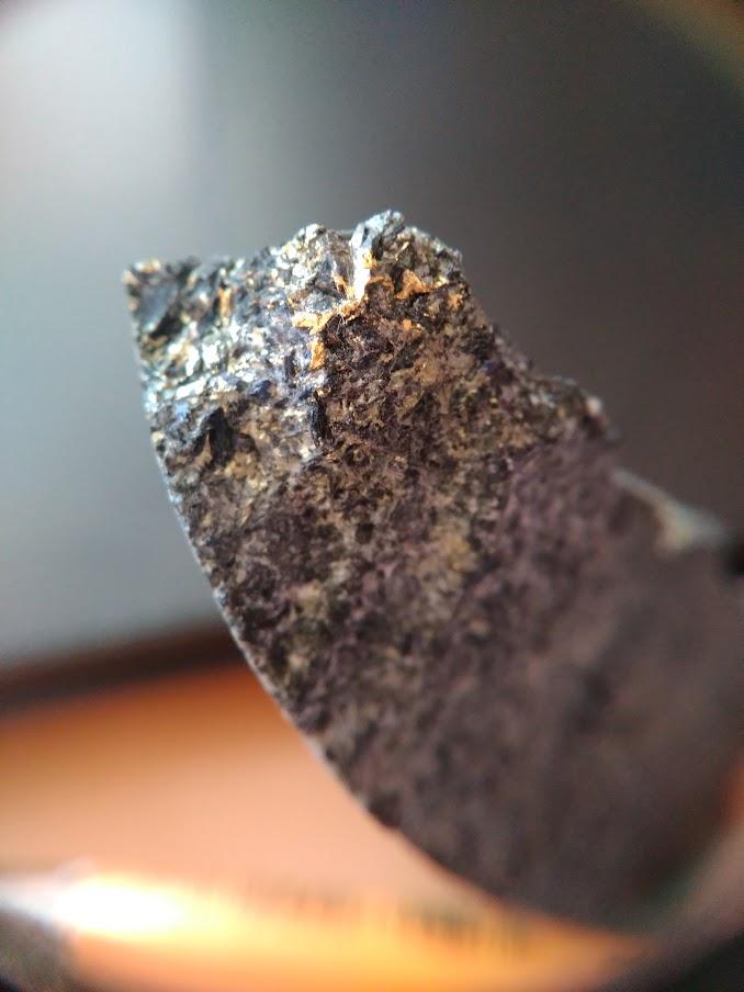Вкрапленность золота в диорите