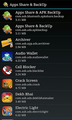 Bluetoothのアプリケーション共有