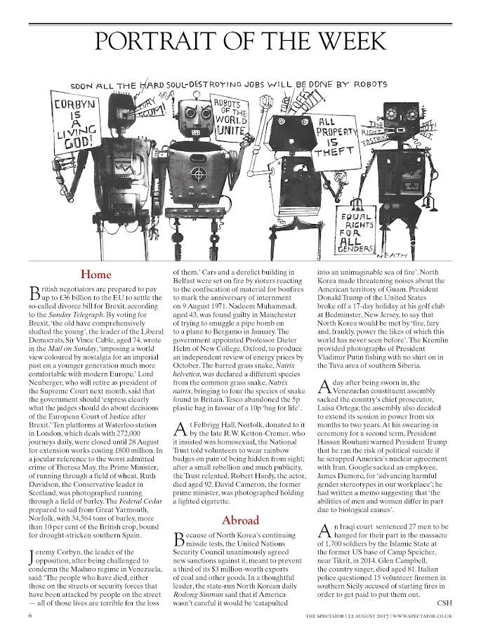 The Spectator Magazine- screenshot
