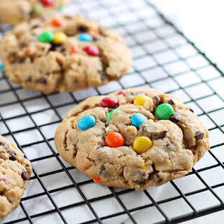 Chocolate Chip M&M Monster Cookies.