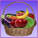 Fruits and vegetables learning icon