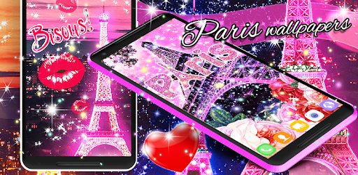 Comparison Paris Wallpapers Vs Cartoon Pink Cute Butterfly Theme