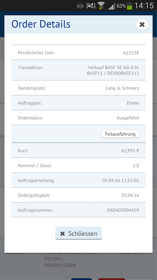 finanzen.net Broker- screenshot