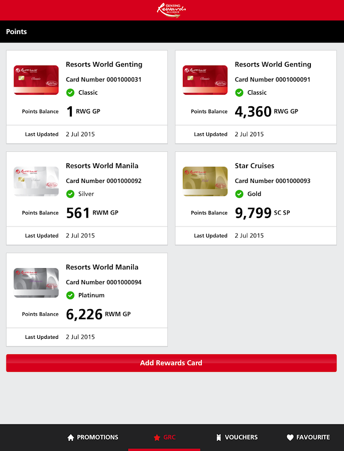 Genting Rewards- screenshot