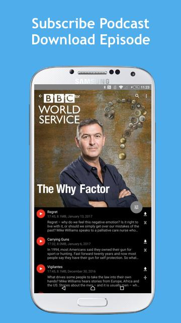 Listening BBC podcasts - BCast- screenshot