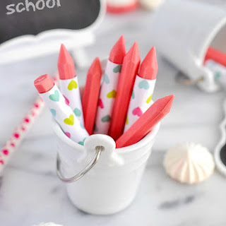 Back To School Strawberry Chocolate Crayons