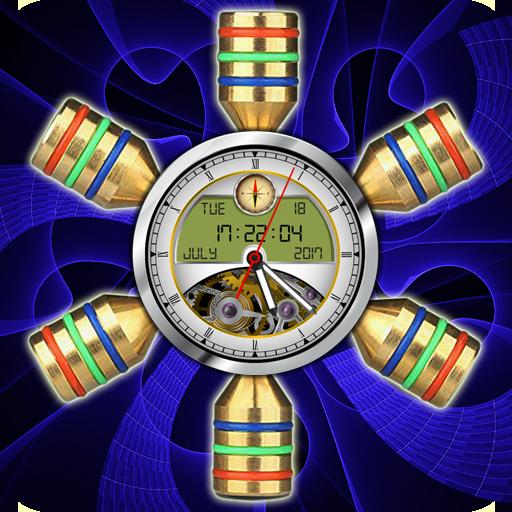 Fidget Spinner Clock Live Wallpaper: Analog Clock
