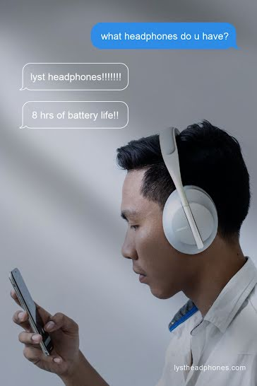 Lyst Headphones - Pinterest Pin Template