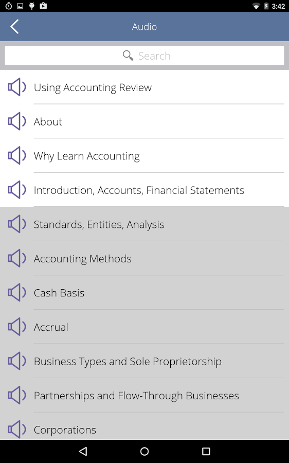 Learn Accounting Flashcards- screenshot