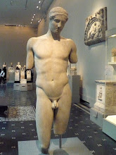 Photo: Marble statue of the so-called Stephanos Youth. Early Imperial, ca. late 1st century B.C. or 1st century A.D. Roman. Marble.