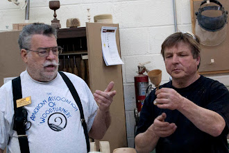 Photo: Elliot Schantz talks about his goblet made for a gift.