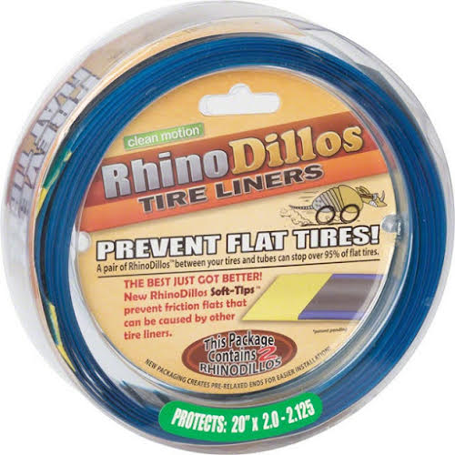 Rhinodillos Tire Liner: 20x2.0-2.125 Green, Pair