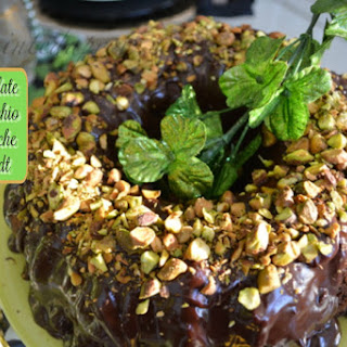 Chocolate Cake with Chocolate Pistachio Ganache