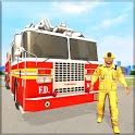 Firefighter Truck Driving Simulator : Rescue Games icon