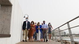 Inauguración de la nueva pasarela del puerto abderitano.