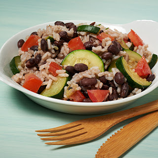 Zucchini, Black Beans and Rice Supper