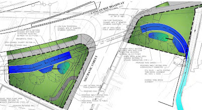Photo: 'Pocket Park' for 'Town Brook Waterway' as proposed by Street-Works  March 2011