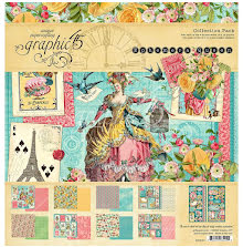 Graphic 45 Collection Pack 12X12 - Ephemera Queen