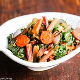 Sauteed Swiss Chard with Carrots and Celery