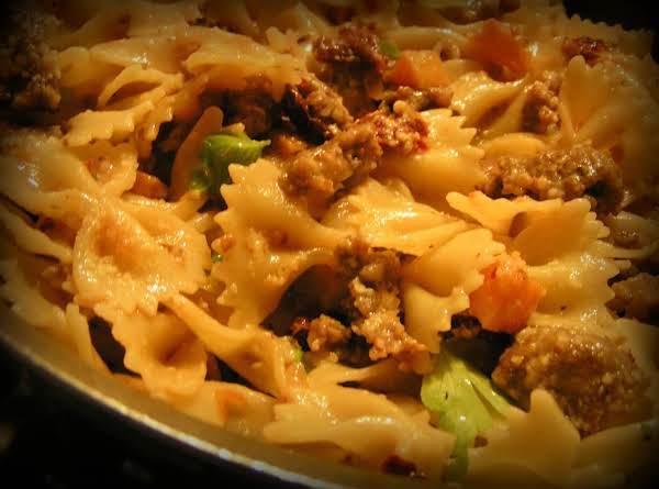 Spicy Butternut Squash Farfalle W/italian Sausage
