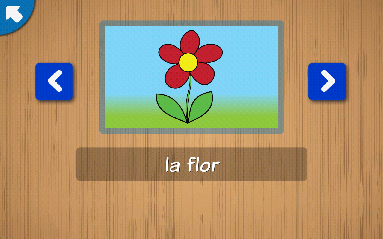 Kids learn Spanish Words - practise to read, write- screenshot