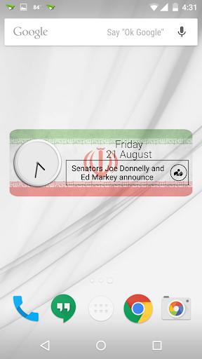 Iran Clock RSS Widget