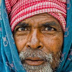 Framed Soul by Arup Acharjee - People Portraits of Men ( india, indian man, people, bearded man, man, portrait, asian )