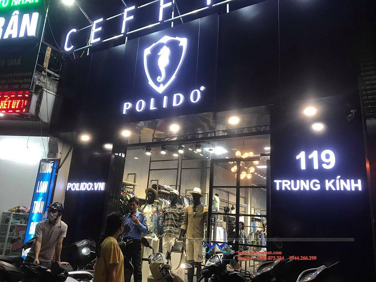 thiết kế thi công shop thời trang nam polido 1