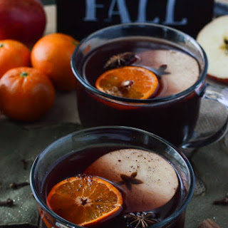 Hot Mulled Apple Cider Sangria