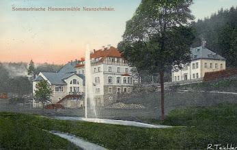 Photo: Lengefeld und Wünschendorf im Erzgebirge Sachsen   Hammermühle Neunzehnhain  -  Alte Postarte von etwa 1910 (Ich besitze diese Karte,habe aber keine Rechte am Bild)