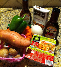 Photo: My haul from Walmart included tofu, sauce veggies and couscous, though my final meal ended up being a lot simpler.