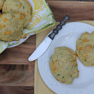 Corn and Chive Drop Biscuits (Vegan)